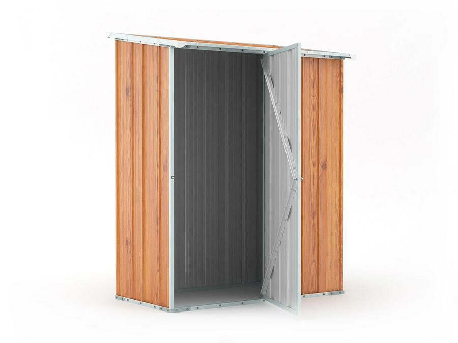 BOX IN ACCIAIO / CAPANNO PER ATTREZZI CM 155 X 100 X 192 H - COLOR LEGNO BY MYGARDEN