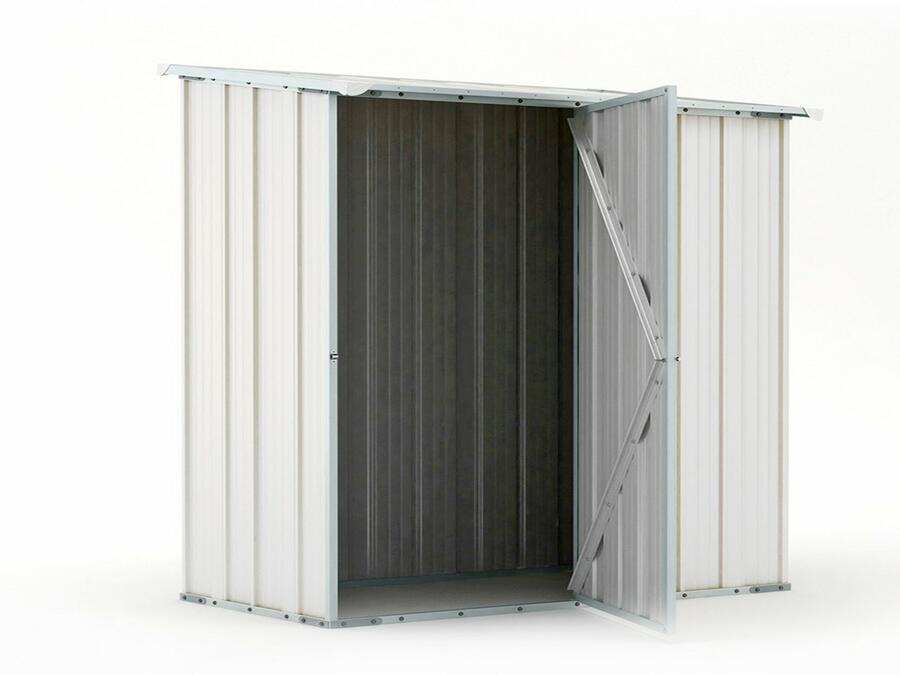 BOX IN ACCIAIO / CAPANNO PER ATTREZZI CM 174 X 100 X 182 H - COLORE BIANCO BY MYGARDEN