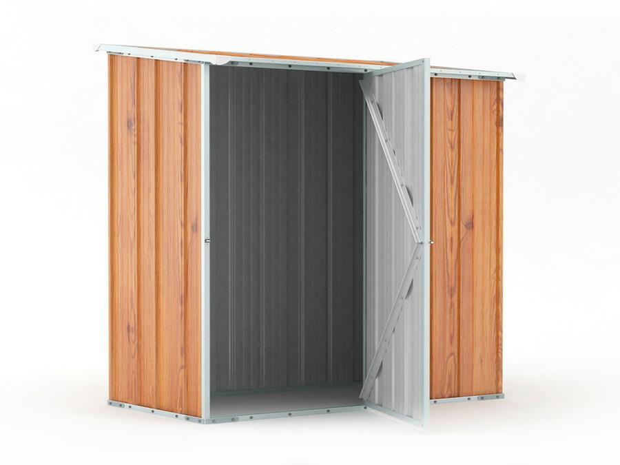 BOX IN ACCIAIO / CAPANNO PER ATTREZZI CM 174 X 100 X 182 H - COLOR LEGNO BY MYGARDEN