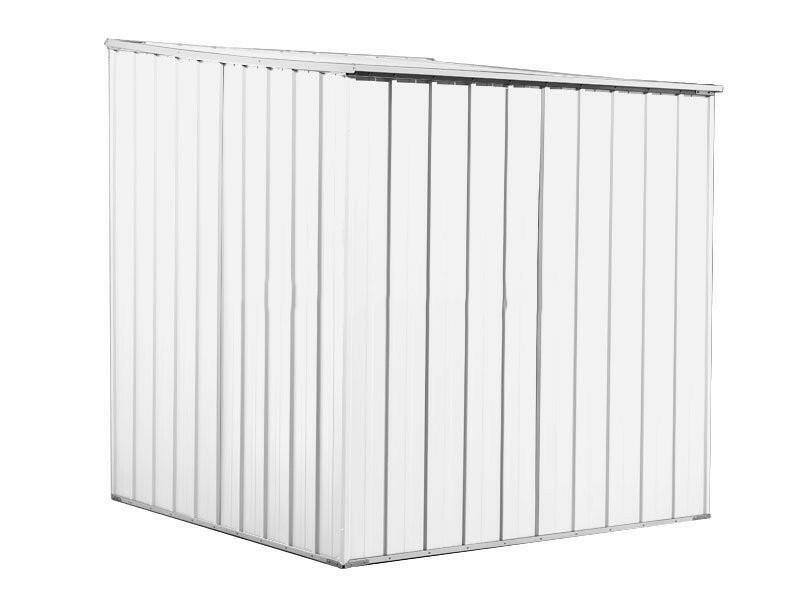 BOX IN ACCIAIO / CAPANNO PER ATTREZZI CM 175 X 185 X 192 H - COLORE BIANCO BY MYGARDEN