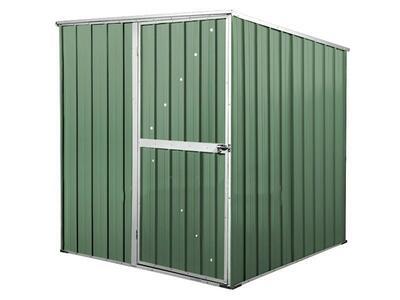 BOX IN ACCIAIO / CAPANNO PER ATTREZZI CM 175 X 185 X 192 H - COLORE VERDE