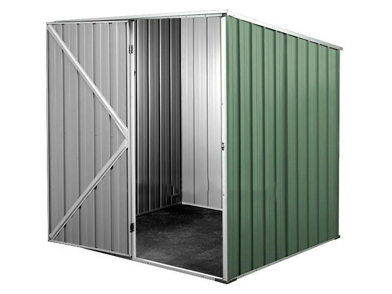 BOX IN ACCIAIO / CAPANNO PER ATTREZZI CM 175 X 185 X 192 H - COLORE VERDE BY MYGARDEN