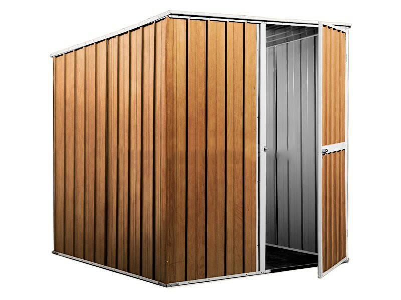 BOX IN ACCIAIO / CAPANNO PER ATTREZZI CM 175 X 185 X 192 H - COLOR LEGNO BY MYGARDEN