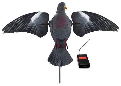 Colombaccio con realistiche ali girevoli stampate a piumaggio con telecomando