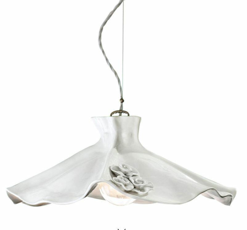 Lampada a Sospensione Lecco C1282 in Ceramica di Ferroluce, Varie Finiture - Offerta di Mondo Luce 24