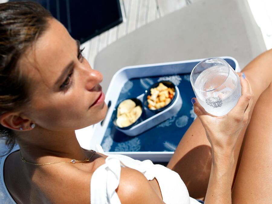 Bicchiere Bibita Antiscivolo 6 Pezzi Serie LIVING di Marine Business - Offerta di Mondo Nautica 24