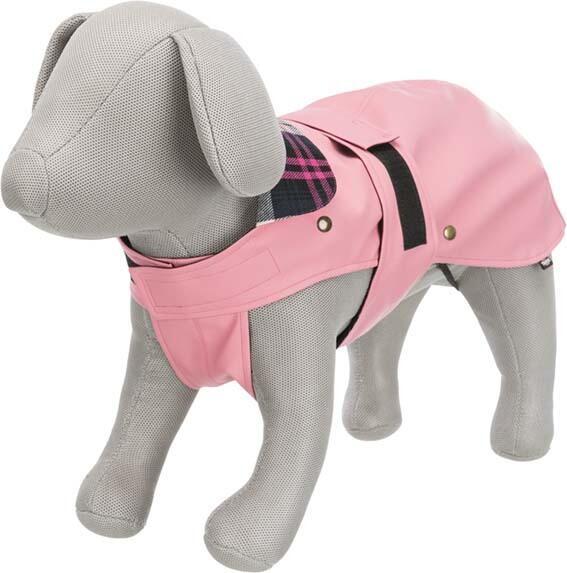 Trixie Paris M 50cm Cappottino Per Cani Impermeabile Imbottito Rosa Fodera Removibile