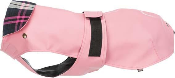 Trixie Paris L 55cm Cappottino Per Cani Impermeabile Imbottito Rosa Fodera Removibile