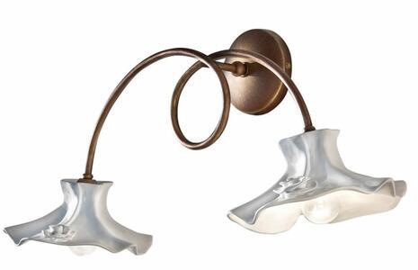 Copia di Lampada da Parete Lecco C1291 con 2 Campane in Ceramica di Ferroluce, Varie Finiture - Offerta di Mondo Luce 24