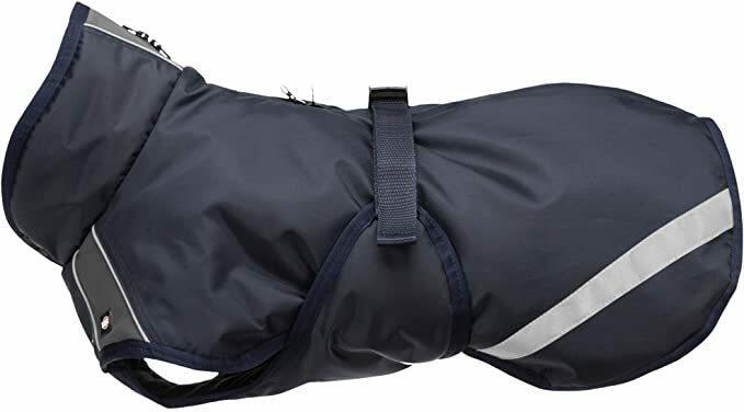 Trixie Piumino Rimont XS 30cm Cappotto Cappottino Per Cani Blu e Grigio Invernale