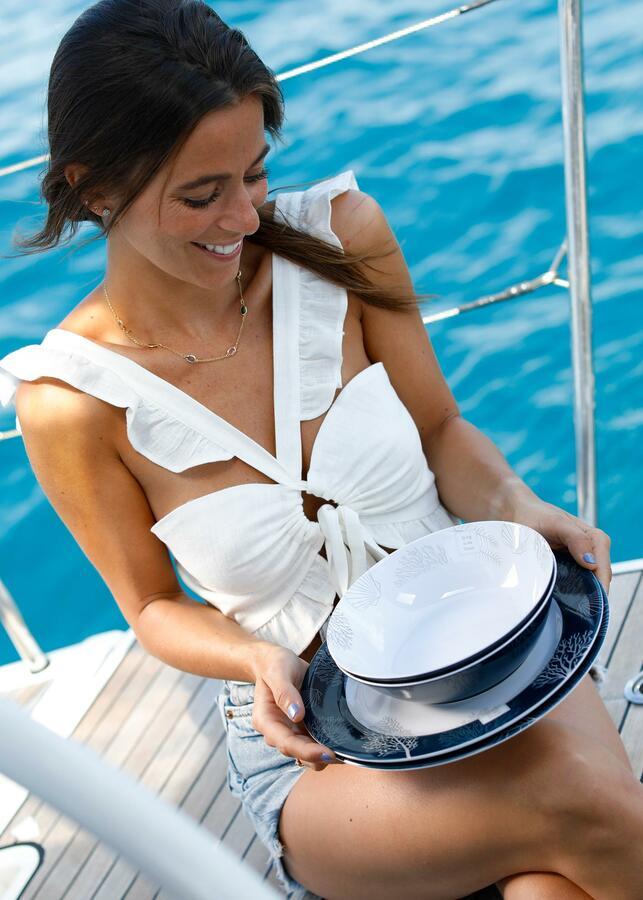 Piatto Fondo 6 pz. Serie LIVING di Marine Business - Offerta di Mondo Nautica 24