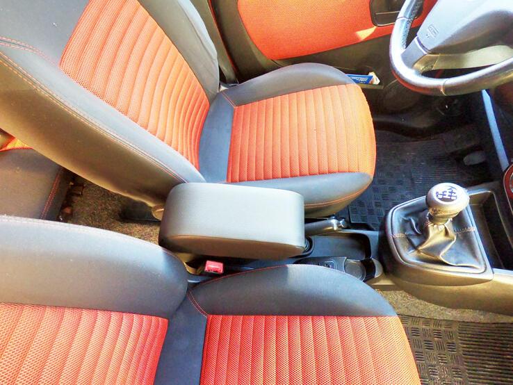 Bracciolo regolabile con portaoggetti per Fiat Qubo