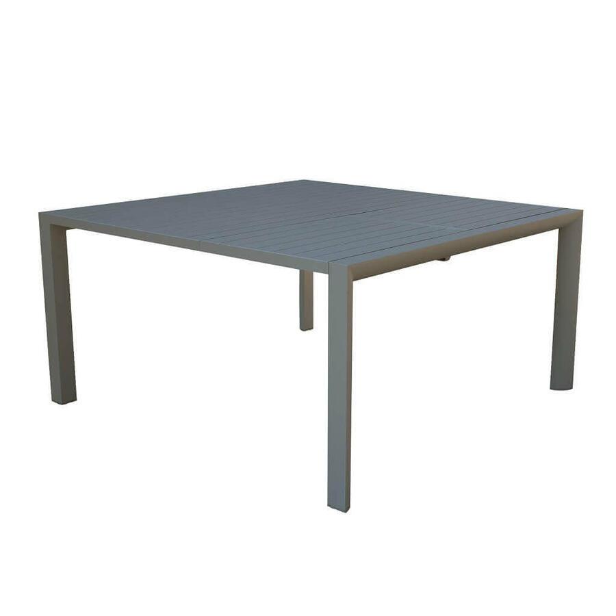 Tavolo da giardino in alluminio QUADRATO MAROSTICA 150 x 150 allungabile colore TAUPE