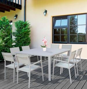 Tavolo da giardino in alluminio QUADRATO MAROSTICA 150 x 150 allungabile colore TORTORA