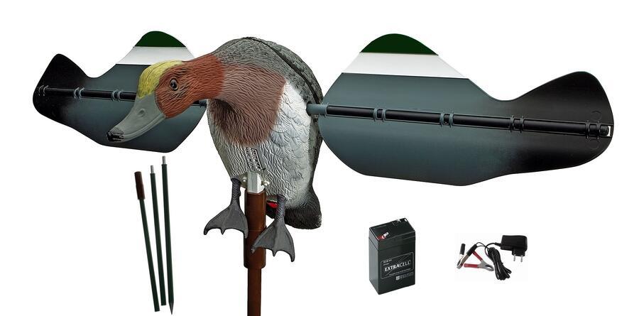 Fischione maschio/femmina ad ali girevoli ondulate dimensioni corpo cm.46 super accessoriato