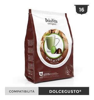 """128 CAPSULE """" DOLCE VITA"""" CAFFE' AL PISTACCHIO COMPATIBILE A MODO MIO"""