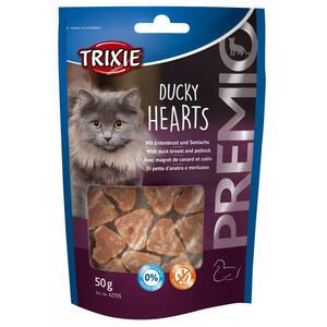 Trixie Ducky Hearts 50g Snack Per Gatti Cuori Di Carne Petto Anatra e Merluzzo