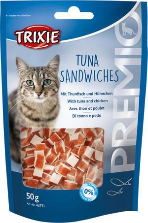 Trixie Tuna Sandwiches Snack Per Gatti Pezzetti di Tonno e Pollo