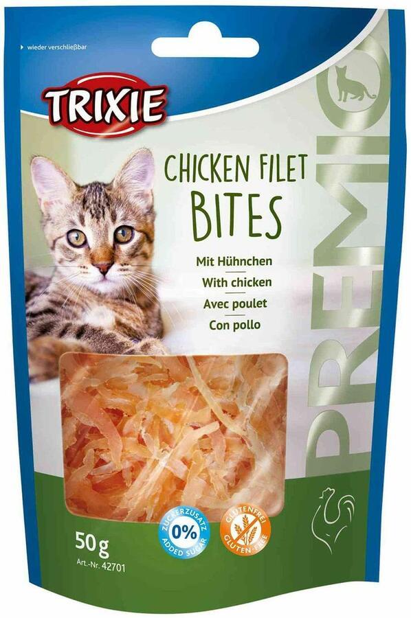 Trixie Chicken Filet Bites 50g Snack Per Gatti Con Pollo Senza Glutine e zuccheri