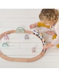 set pista trenino in legno