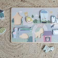 puzzle legno zoo