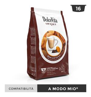 """128 CAPSULE """" DOLCE VITA"""" BISCOTTINO (CAFFE' BISCOTTO E CANNELLA) COMPATIBILE A MODO MIO"""