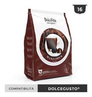 """16 CAPSULE """" DOLCE VITA"""" MAXI CHOCK (CIOCCOLATO) COMPATIBILI DOLCE GUSTO"""