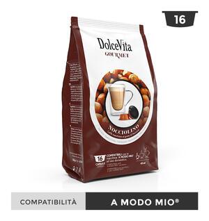 """128 CAPSULE """" DOLCE VITA"""" NOCCIOLINO (CAFFE' MACCHIATO AL GUSTO DI NOCCIOLA) COMPATIBILE A MODO MIO"""