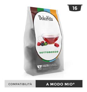 """128 CAPSULE """" DOLCE VITA"""" SOTTOBOSCO RELAX COMPATIBILE A MODO MIO"""