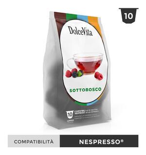 """100 CAPSULE """" DOLCE VITA"""" SOTTOBOSCO RELAX COMPATIBILE NESPRESSO"""