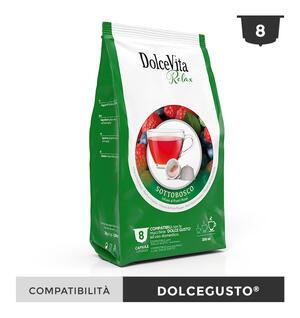 """48 CAPSULE DOLCE VITA """"SOTTOBOSCO RELAX"""" COMPATIBILI DOLCE GUSTO"""