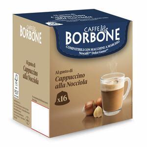 16 CAPSULE CAFFE' BORBONE CAPPUCCINO ALLA NOCCIOLA COMPATIBILI DOLCE GUSTO da 14g