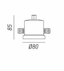 Scatola di connessione per cavi in acciaio per lampada Drop a 2 Cavi de Il Fanale - Offerta di Mondo Luce 24