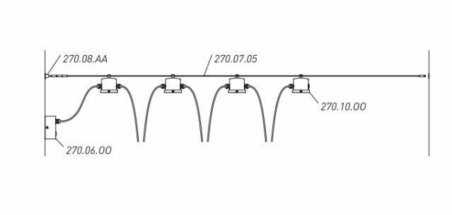 Kit per cavo d'acciaio Ø 3 mm per Lampada Drop a 2 Cavi de Il Fanale - Offerta di Mondo Luce 24