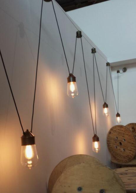 Due Tiranti per cavo d'acciaio per Lampada Drop a 2 Cavi de Il Fanale - Offerta di Mondo Luce 24