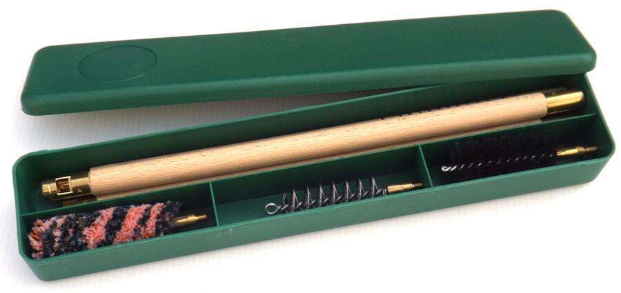 kit pulizia fucile cal.12 in astuccio di plastica