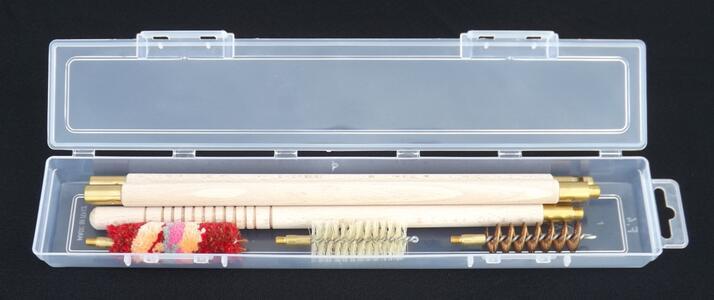 kit pulizia fucile cal.12 e cal.20 in astuccio trasparente