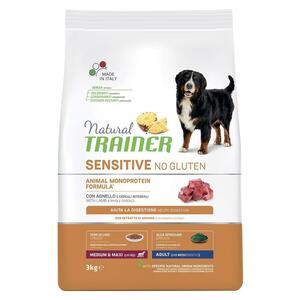 Natural Trainer Sensitive Adult Medium Maxi Agnello 3 KG Croccantini Per Cani