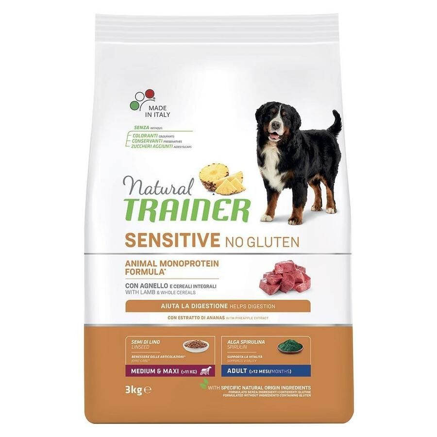 Natural Trainer Sensitive Adult Medium Maxi Salmone 3 KG Croccantini Per Cani