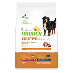 Natural Trainer Sensitive Adult Medium Maxi Anatra 3 KG Crocchette Per Cani