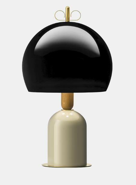 Lampada da Tavolo Bon Ton Ø 35 cm in Alluminio Verniciato e Legno Rovere de Il Fanale, Varie Finiture - Offerta di Mondo Luce 24