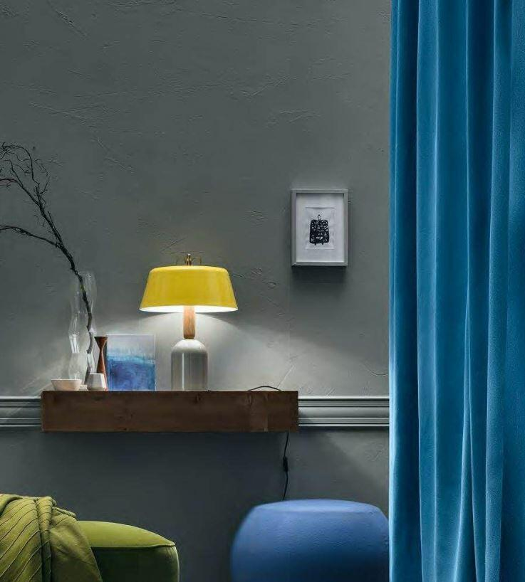 Lampada da Tavolo Bon Ton Ø 40 cm in Alluminio Verniciato e Legno Rovere de Il Fanale, Varie Finiture - Offerta di Mondo Luce 24