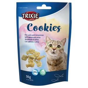 Trixie Cookies 50g Snack Per Gatti Con Salmone e Catnip Senza Glutine e zuccheri