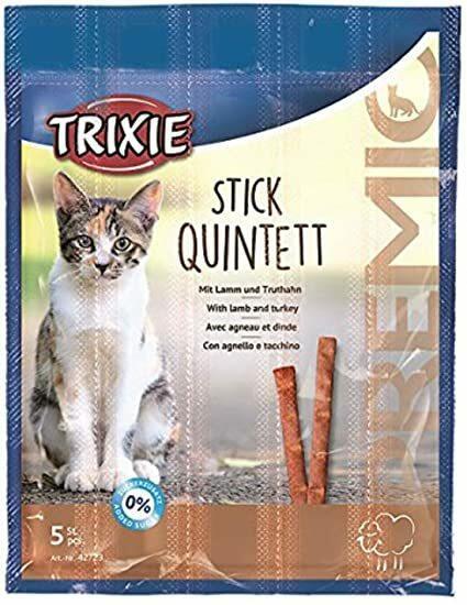 Trixie Stick Quintett 5 Snack Per Gatti Bastoncini Con Agnello e Tacchino