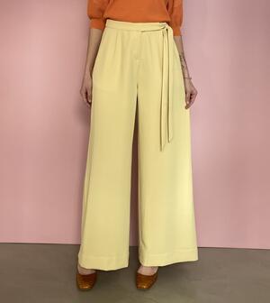 Pantaloni giallo sabbia chiaro
