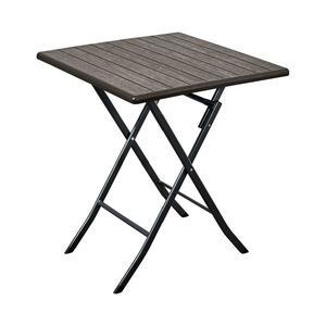 Tavolo Pieghevole cm 70x70 marrone scuro