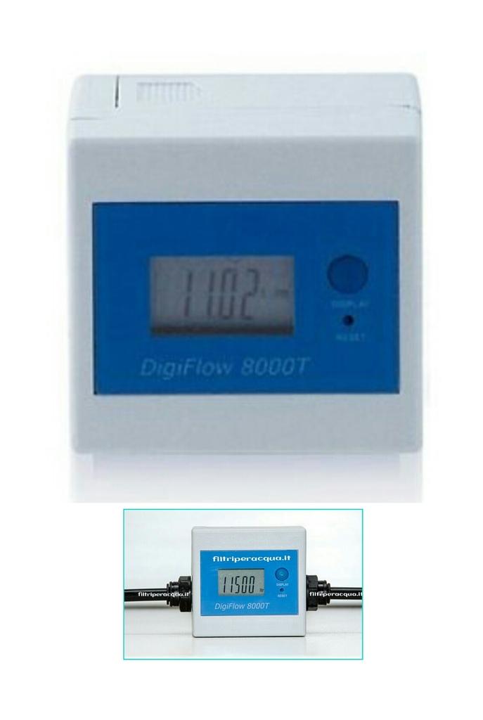 Contalitri Digitale Digiflow 8000T alimentazione batteria completo di raccordi.