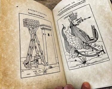 De Re Militari – Roberto Valturio. Replica edizione 1534