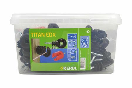 Isolatore per recinto elettrico con anello RINFORZATO con vite EDX da 6 mm + chiave per avvitatore 75 pz