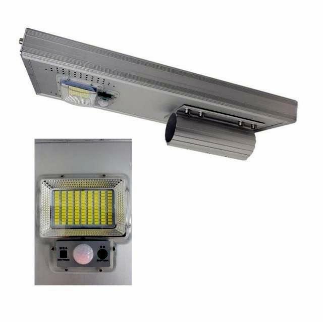 Lampione Stradale Faretto Energia Solare Led Fotovoltaico Luce 50w